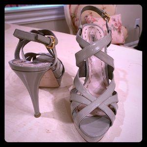 Miu Miu light grey sling back heels size 38.5